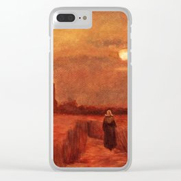 The Old Tower in the Fields by Vincent van Gogh Clear iPhone Case