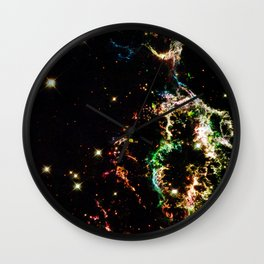 Galactic Electricity Colorful Wall Clock