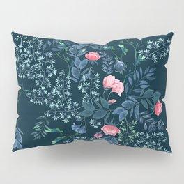 Floral - Blue & Pink Pillow Sham