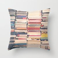 books Throw Pillows featuring Books  by Caroline Mint