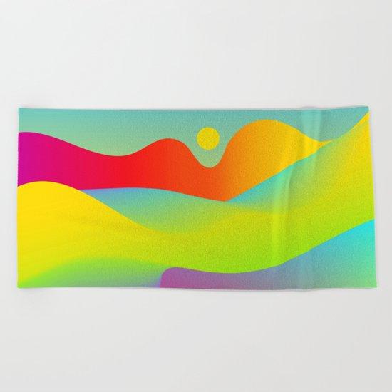 Abstract Desert Beach Towel