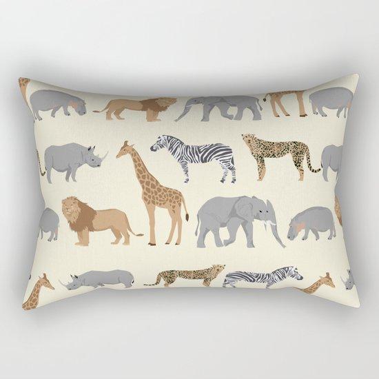 Safari animal minimal modern pattern basic home dorm decor nursery safari patterns Rectangular Pillow