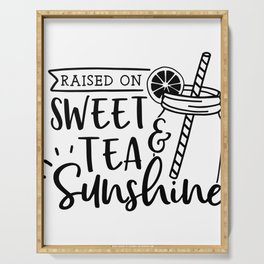 TEA LOVERS TEA designS - SWEET TEA AND SUNSHINE graphic Serving Tray