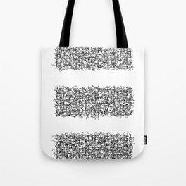 tri white Tote Bag