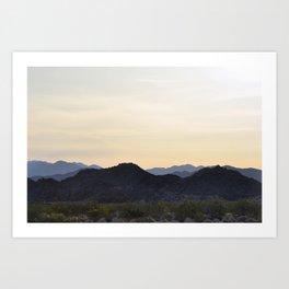 mountains of joshua tree Art Print