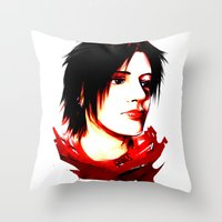 selfie Throw Pillows featuring Selfie by Sabuchan