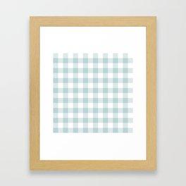 Charcoal Sky Checker Gingham Plaid Framed Art Print