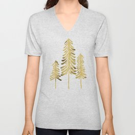 Pine Trees – Gold Palette Unisex V-Neck
