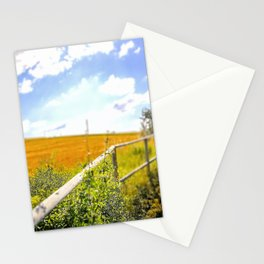 Cultivated fields on the hills of Marche Region on the Adriatic Sea, Italy Stationery Cards