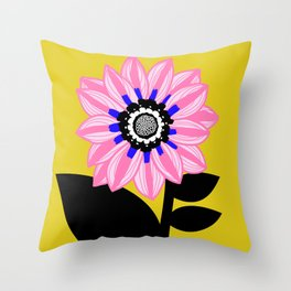 Pink is for Happy Throw Pillow