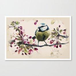 Animal Kingdom Series -Bird in Spring Canvas Print