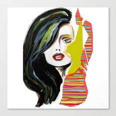 Fashion face woman portrait Canvas Print