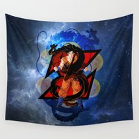 goku Wall Tapestries featuring DBZ - Goku by Mr. Stonebanks