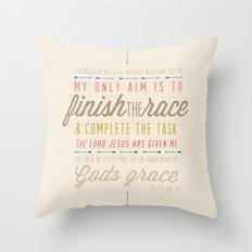 Acts 20:24 Throw Pillow