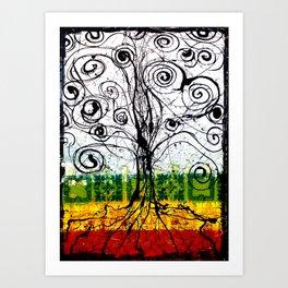 Rasta Tree Art Print