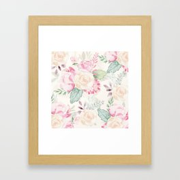Romantic Floral Bouquet Framed Art Print