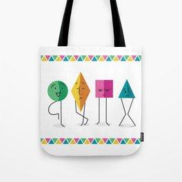 Geometry Friends Tote Bag