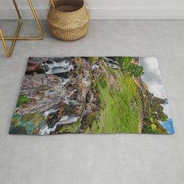 Watkin Waterfall Snowdonia Rug
