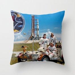 Apollo 17 - Prime Crew Portrait Throw Pillow