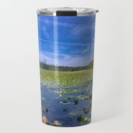 Forest lake in the city Travel Mug