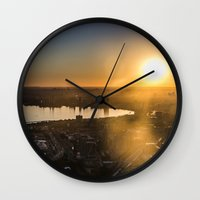 toronto Wall Clocks featuring Toronto by Natasha Murray