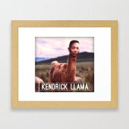 Kendrick Llama Framed Art Print