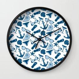 Beach clothes Wall Clock