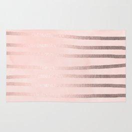 Rosegold Pink Stripes Rug