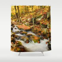 rush Shower Curtains featuring Gold Rush by ThePhotoGuyDarren