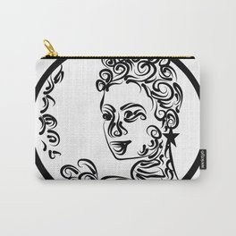 Grenada Queen Black & white Carry-All Pouch
