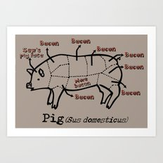 Bacon LOver Art Print
