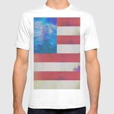 Americana  Mens Fitted Tee White MEDIUM