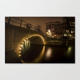 Seventeenth-Century Canal Ring Area of Amsterdam inside the Singelgracht.  Canvas Print