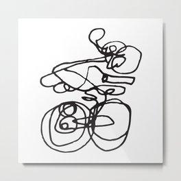 Biking Beauty Metal Print