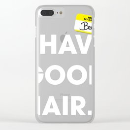 Hello, my name is bec Clear iPhone Case