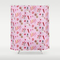 makeup Shower Curtains featuring makeup by fungusmiu