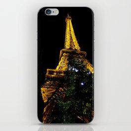 Eiffel Tower lit up at night, Paris iPhone Skin