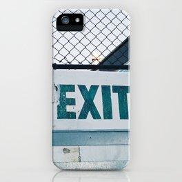 Exit iPhone Case