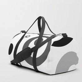 Circles Dots Bubbles :: Grayscale Duffle Bag