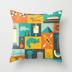 Long Beach Throw Pillow