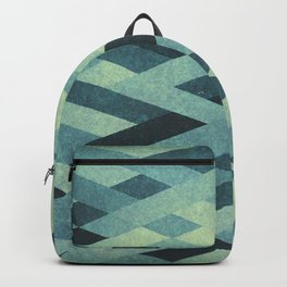 Abstract Pattern in Blue Backpack