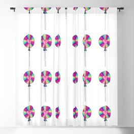 Rainbow Lollipop Candy Pattern Blackout Curtain
