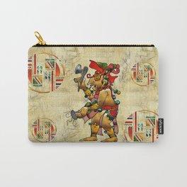 Tribal God War Dance Folk Art Carry-All Pouch