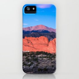 Pikes Peak - Sunrise Over Garden of the Gods in Colorado Springs iPhone Case