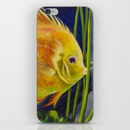 Yellow Discus iPhone Skin
