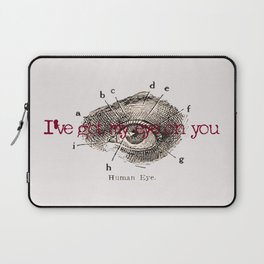 I've got my eye on you vintage illustration Laptop Sleeve