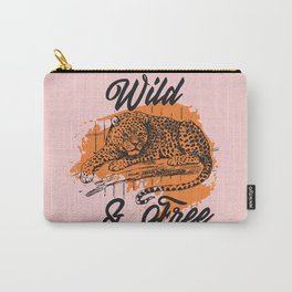Wild Leopard Carry-All Pouch