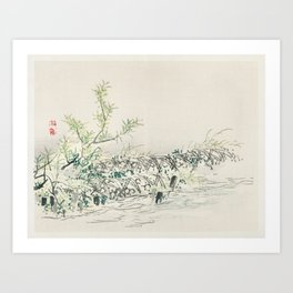 Bulrush by Kōno Bairei (1844-1895). Art Print