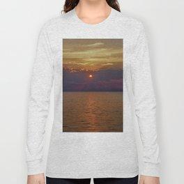 Sun through the clouds. Purple sunset. Long Sleeve T-shirt