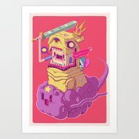 jake Art Prints featuring Finn and Jake by Mike Wrobel